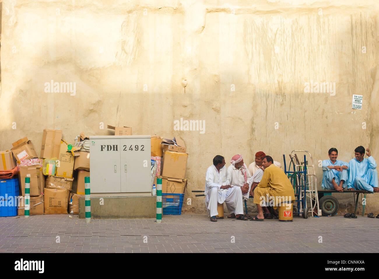 Souk aux épices de Deira, Dubaï Photo Stock