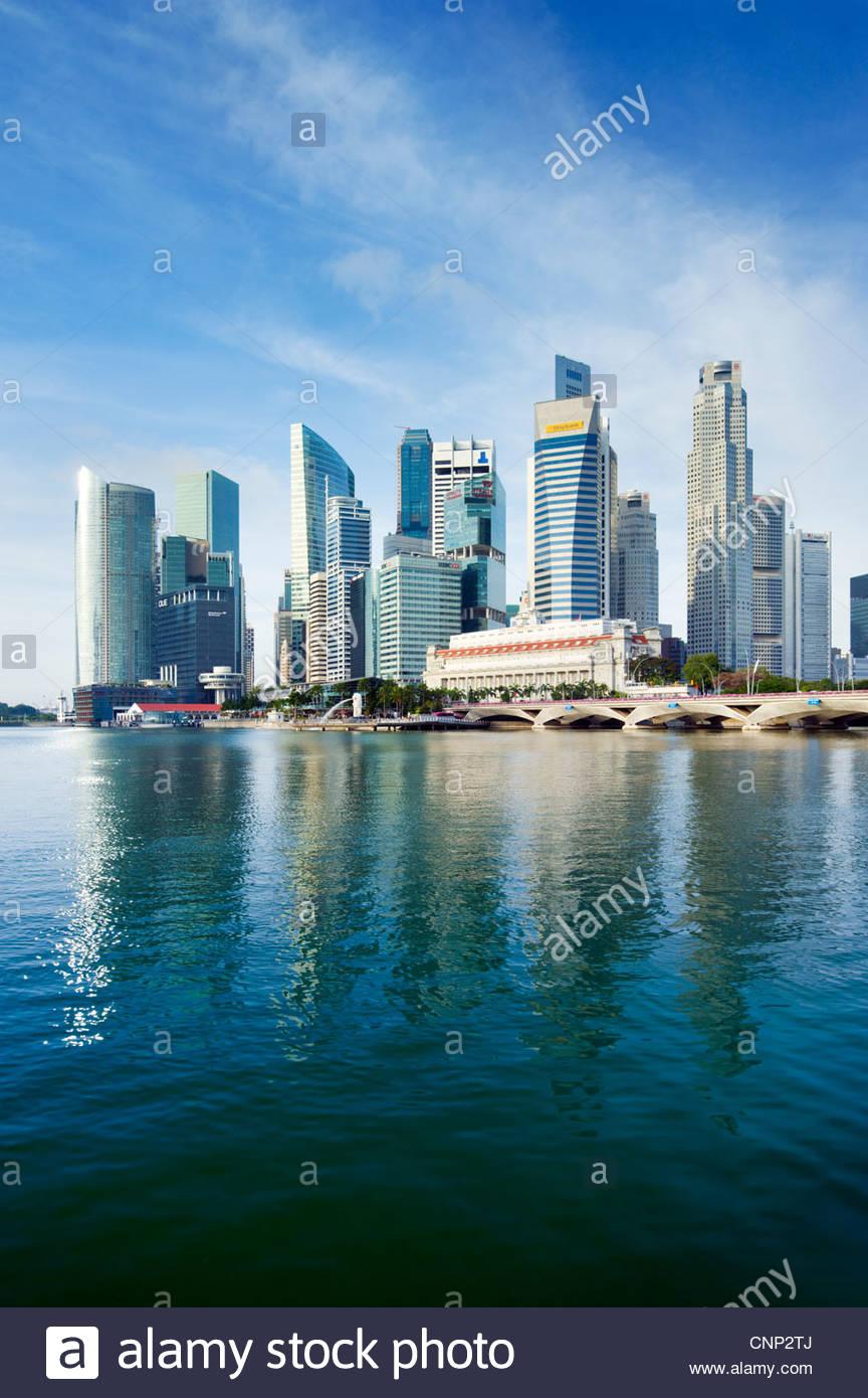 La ville, Singapour Photo Stock