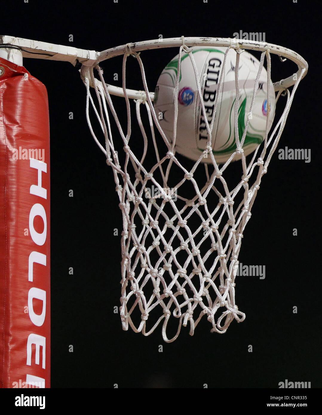 Le netball Hoop, Auckland, Nouvelle-Zélande, Dimanche, Avril 01, 2012. Photo Stock