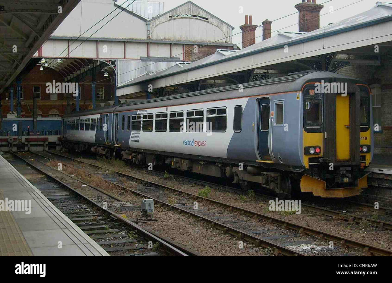 Relivered récemment National Express East Anglia n° 156419 Classe 156 à Norwich. Photo Stock