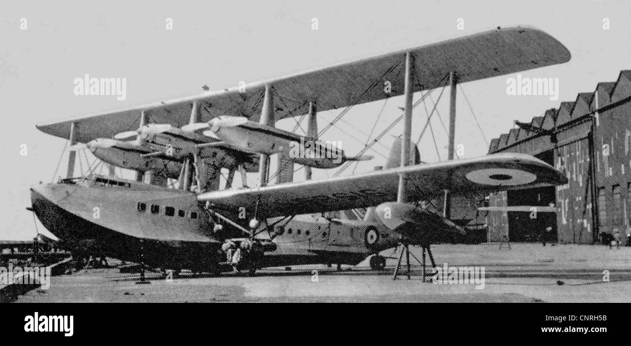 Bref S.14 (S1589) de Sarafand, à Felixstowe, Août 1932 Photo Stock