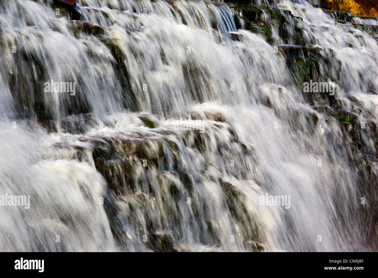 Waterfall close up Photo Stock