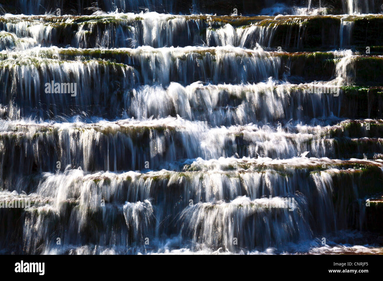 Waterfall close up Photo Stock
