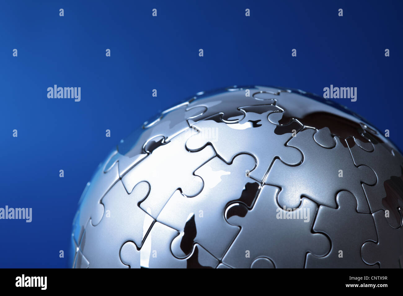 Solution globale Photo Stock