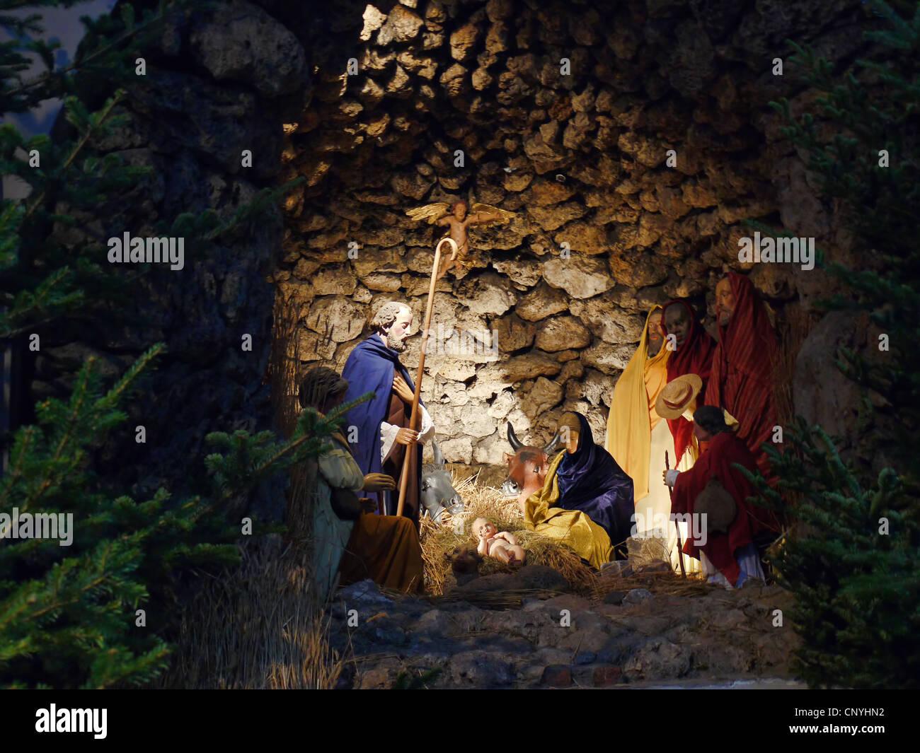 Crèches Johannes crèches personnages Sainte Famille en Taille environ 12 cm