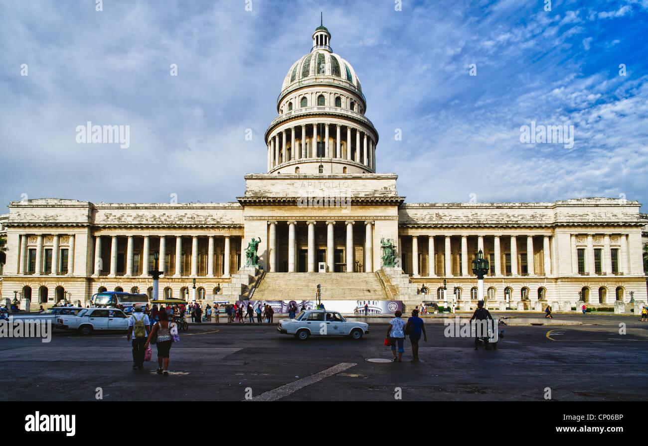 Capitol building dans la vieille Havane, Cuba Banque D'Images
