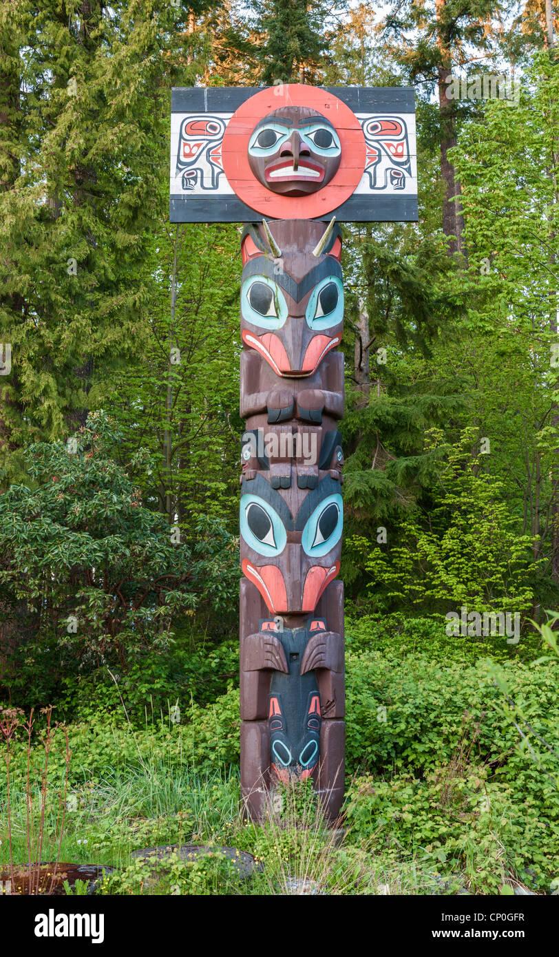 Chef de pôle funéraire Skedans, Vancouver Photo Stock
