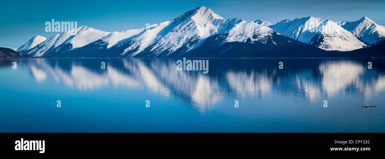 Les montagnes le long de Turnagain Arm près d'Anchorage, Alaska. Photo Stock