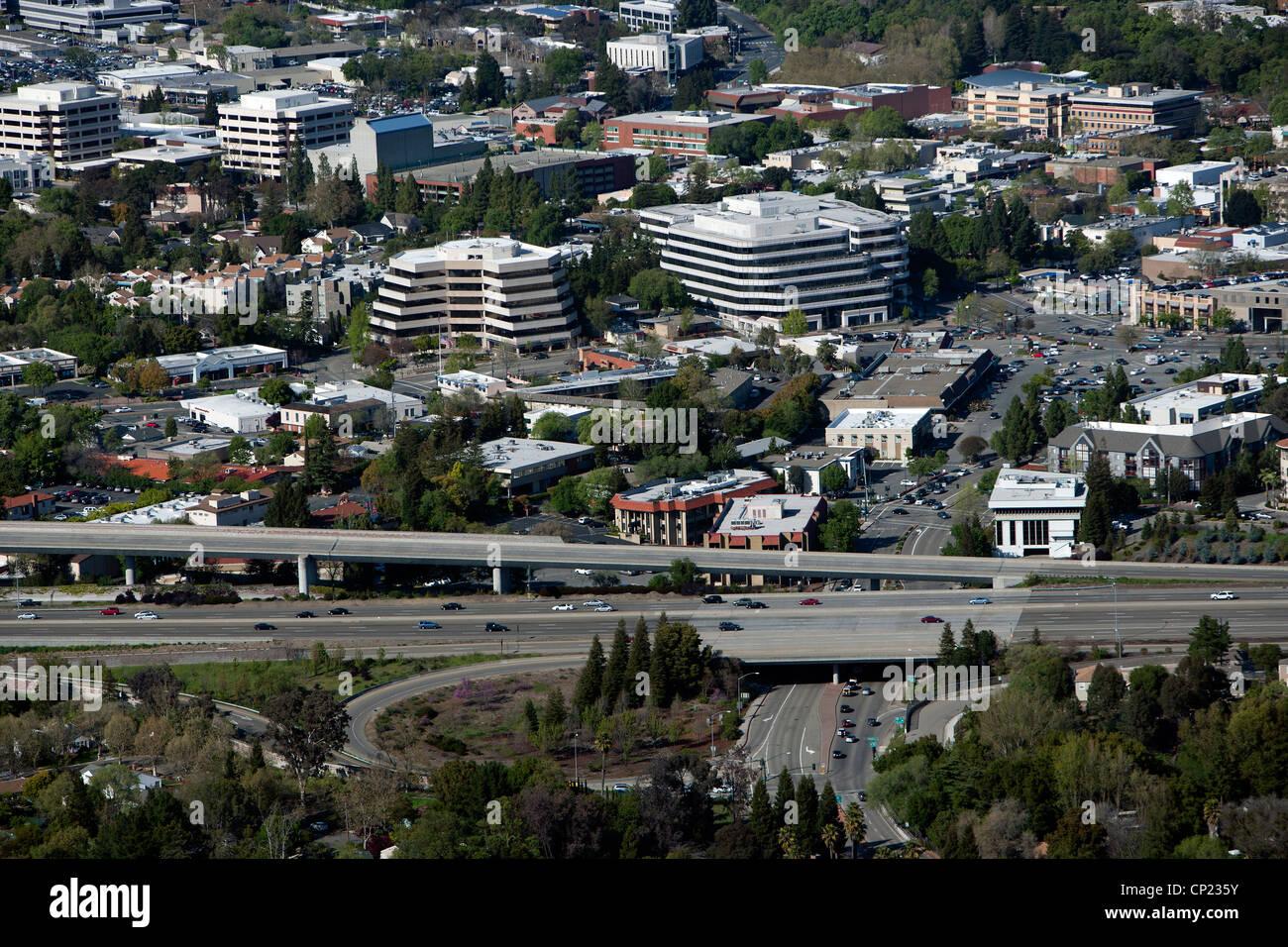 Photographie aérienne Walnut Creek, comté de Contra Costa, en Californie Photo Stock