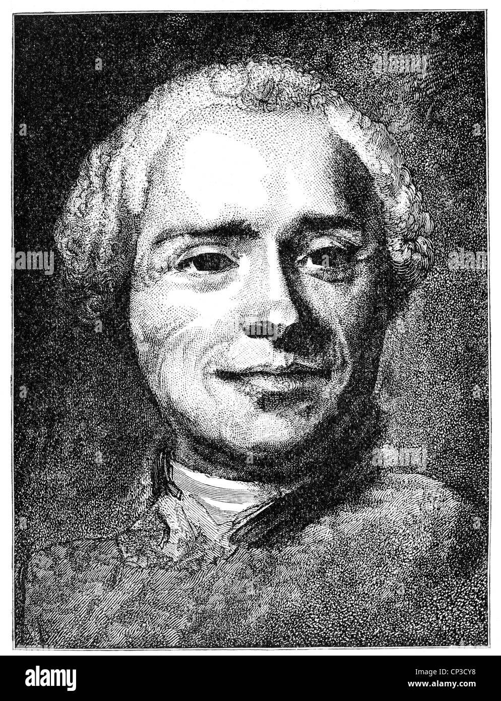 Jean-Baptiste le Rond D'Alembert, ou, 1717 - 1783, un mathématicien, physicien, philosophe des Lumières, Photo Stock