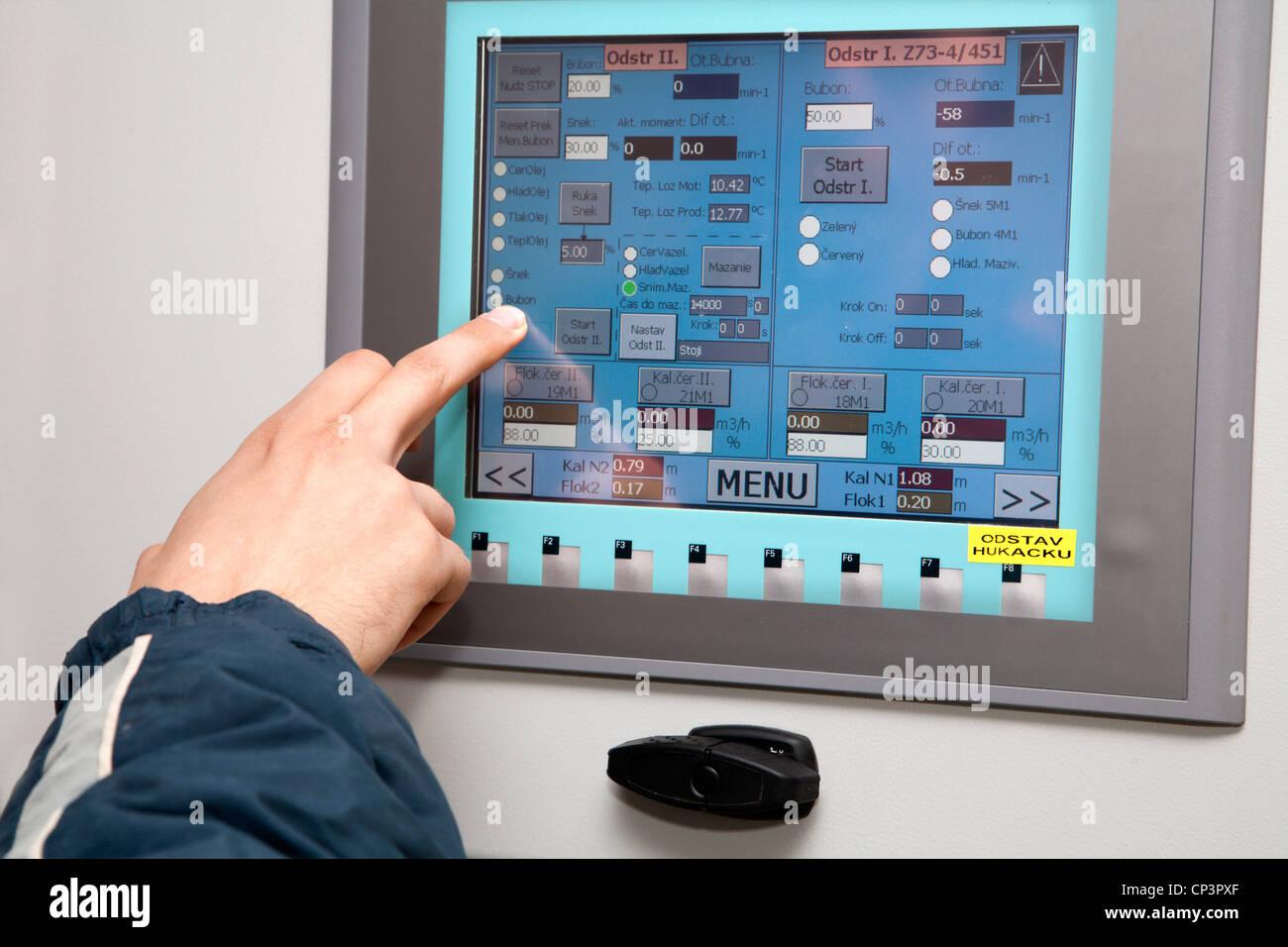 Touch Panel et part de l'industrie - Photo Stock