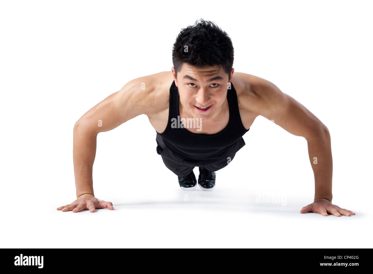 Man doing push-ups Photo Stock