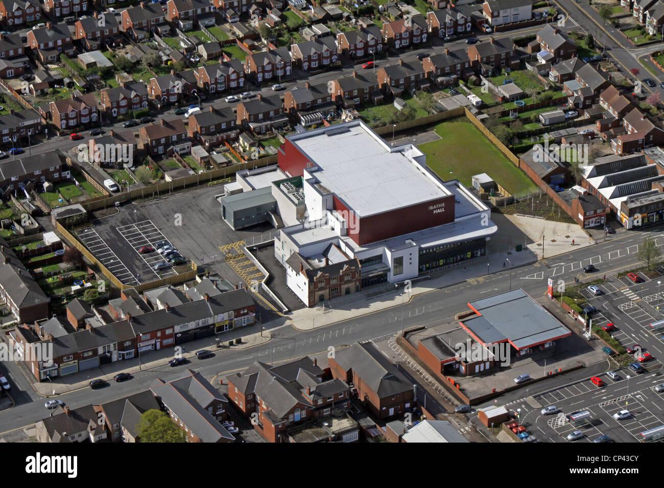 Vue aérienne de la salle des bains de divertissement, Scunthorpe Photo Stock