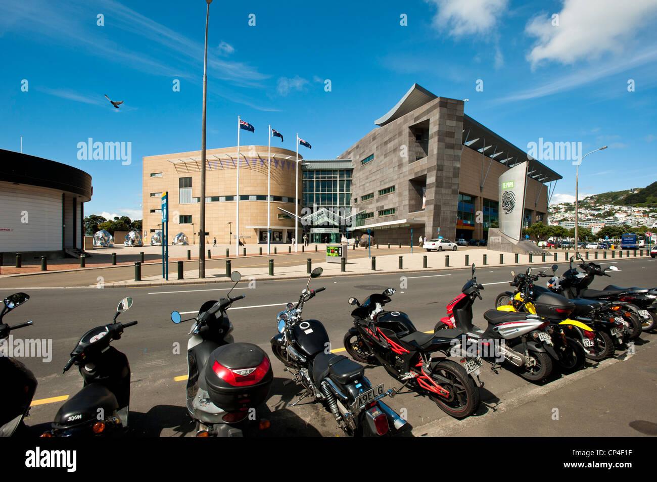 Le musée Te Papa à Wellington, Île du Nord, Nouvelle-Zélande Photo Stock