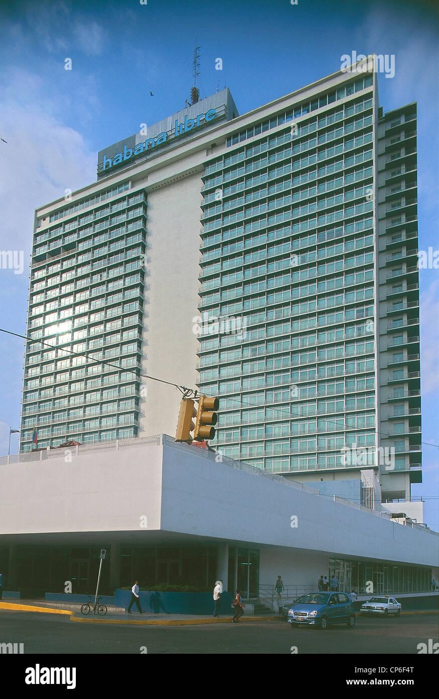 Cuba - La Havane (La Habana) - Vedado. Hôtel Habana Libre, l'ancien Hilton de La Havane. Photo Stock