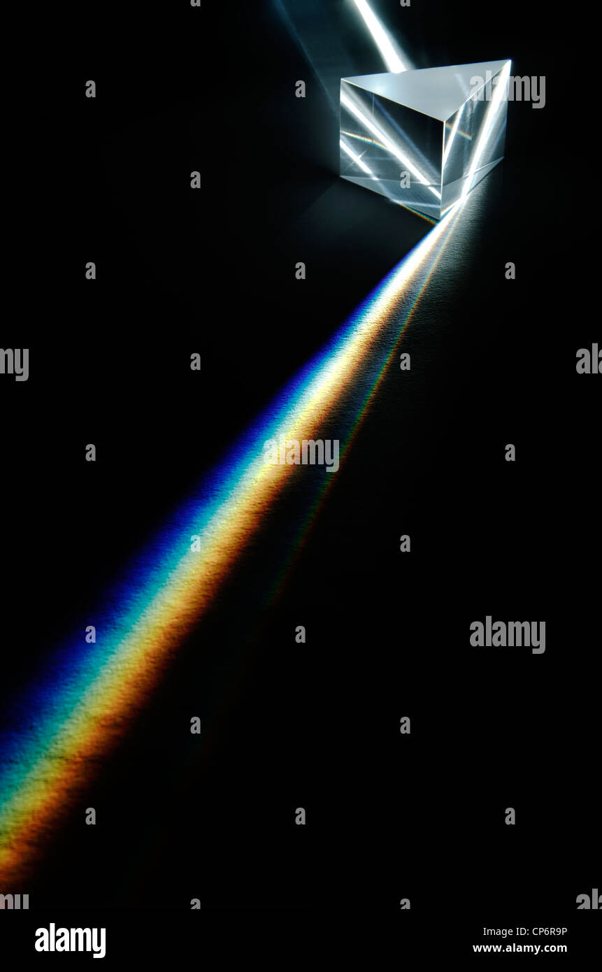 Spectre de la lumière blanche Photo Stock