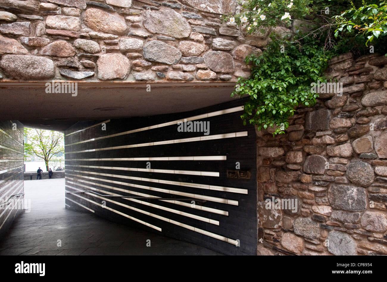 Mémorial de la faim irlandais au centre-ville de new york city Photo Stock