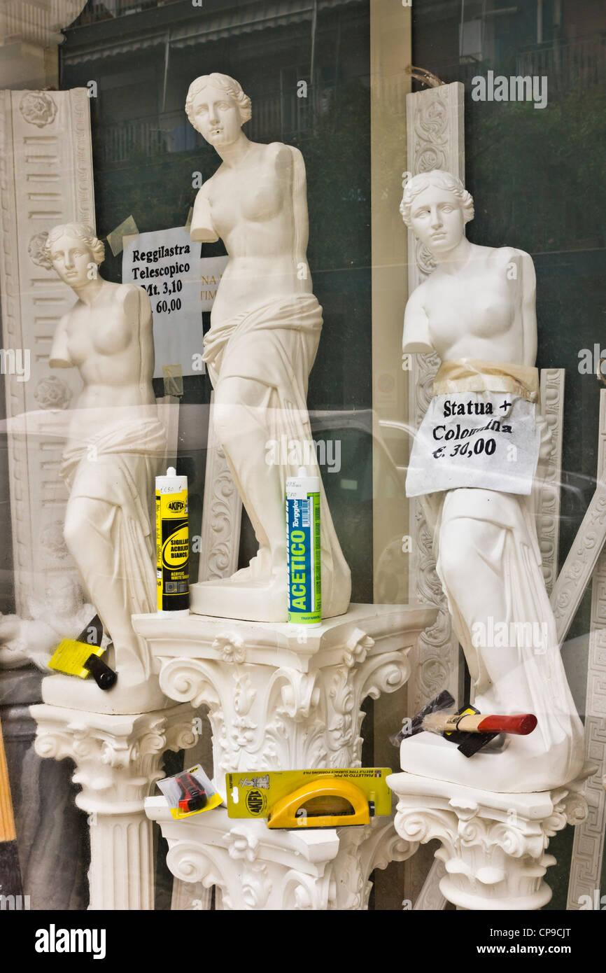 bricolage décoration italienne accueil vitrine - des copies en