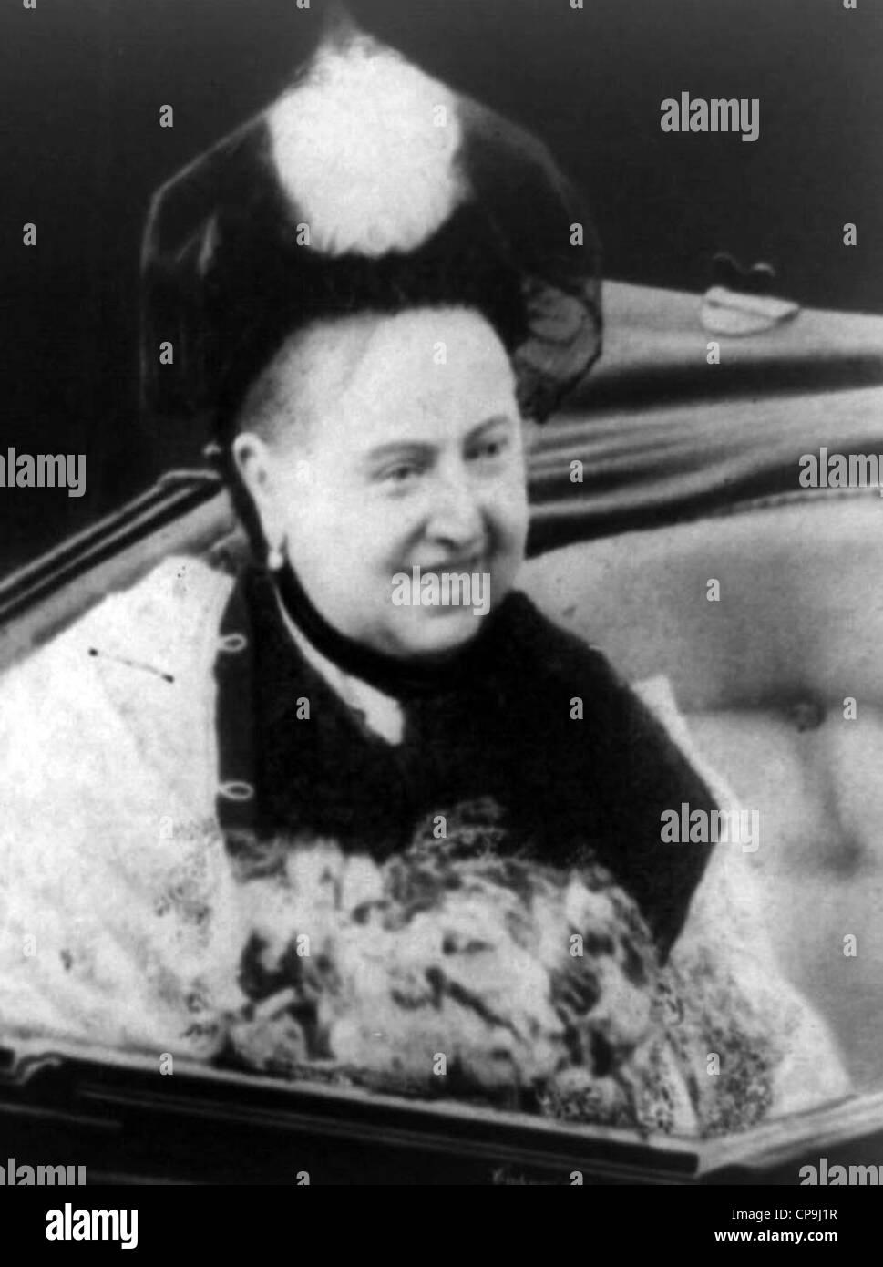 La reine Victoria, 1887 Photo Stock