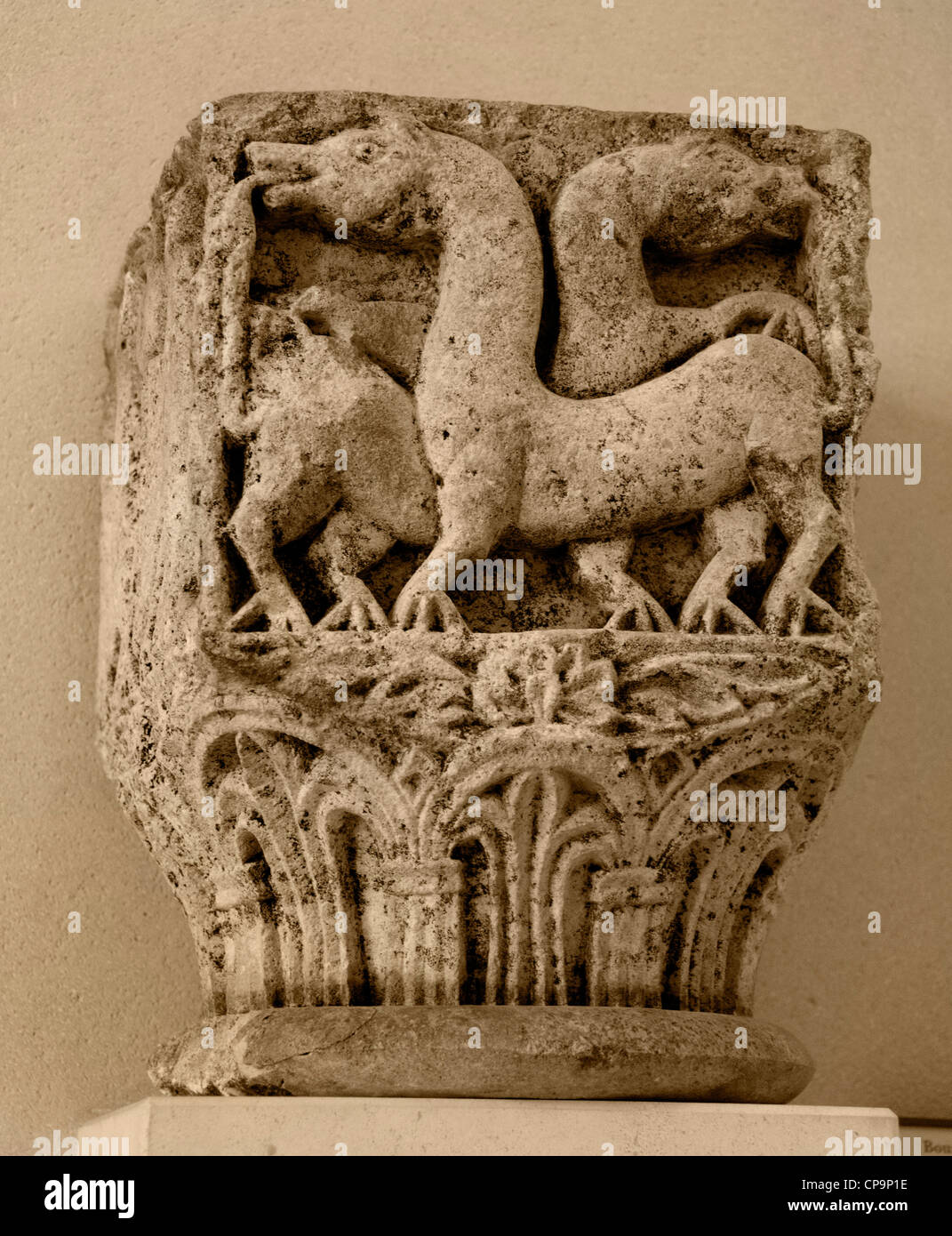 Abbaye bénédictine de capitaux église Saint Pierre Flavigny Bourgogne 11 siècle Français Photo Stock