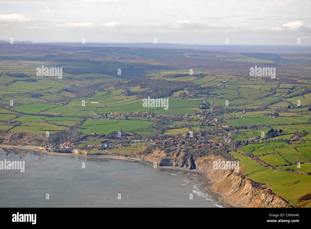 North York Moors National Park, Mt Pleasant N, Whitby, North Yorkshire YO22, UK UK Robin Hood's Bay l'ancienne Photo Stock