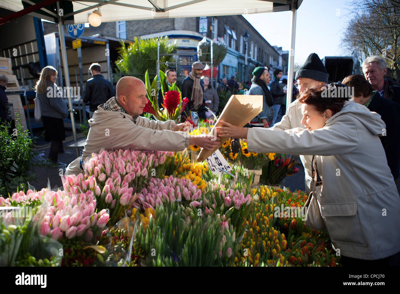 Columbia Road Flower Market Photo Stock
