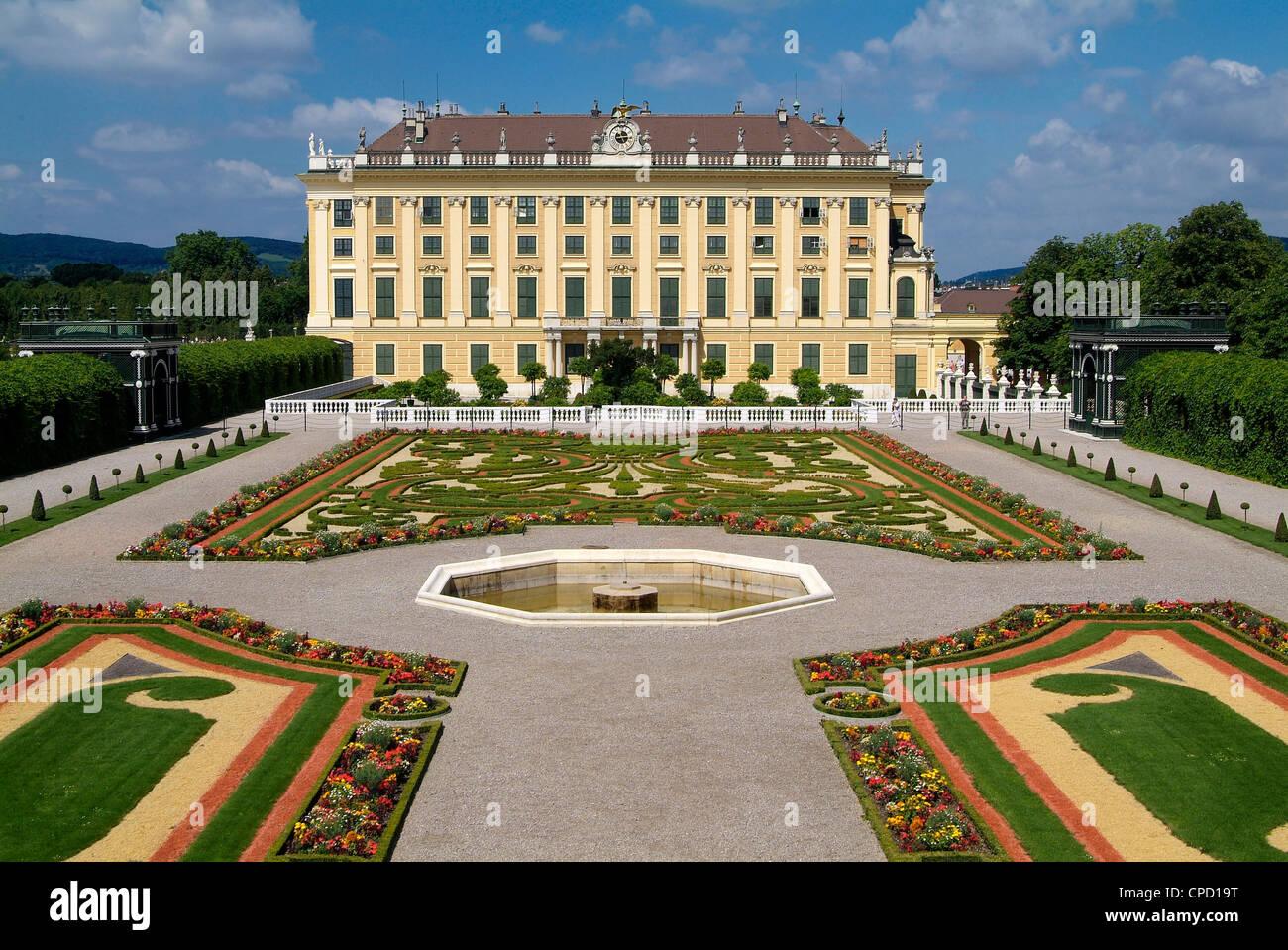 Palais de Schonbrunn, Site du patrimoine mondial de l'UNESCO, Vienne, Autriche, Europe Photo Stock