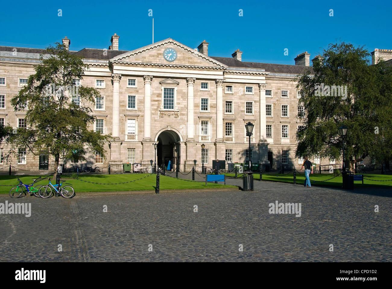 Université Trinity College, Dublin, République d'Irlande, Europe Photo Stock