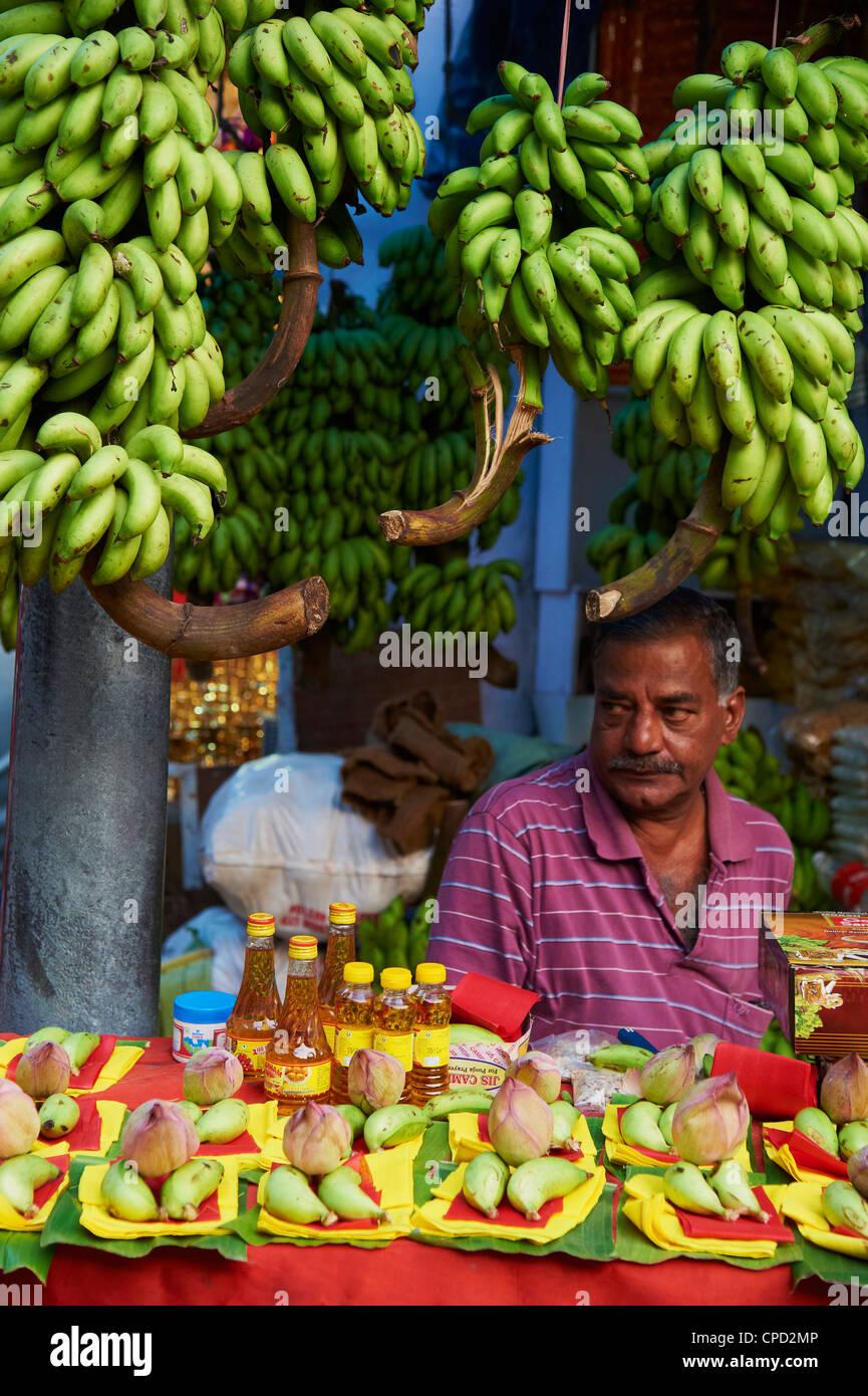 Marché de Fruits, Trivandrum (Thiruvananthapuram), Kerala, Inde, Asie Banque D'Images