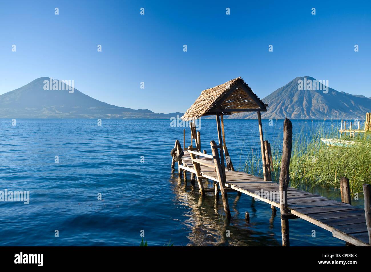 Santa Cruz La Laguna, Lake Atitlan, Western Highlands, Guatemala, Amérique Centrale Photo Stock