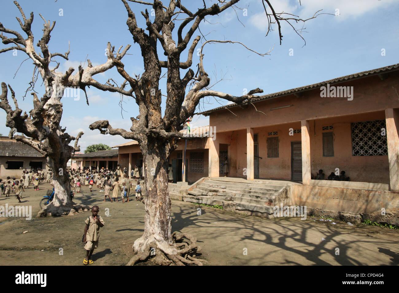L'école primaire, Lomé, Togo, Afrique de l'Ouest, l'Afrique Photo Stock