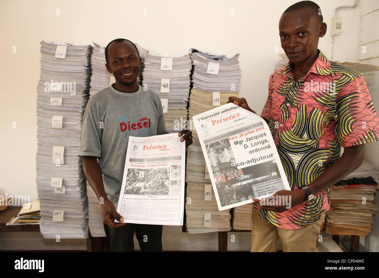 Presse Catholique, Lomé, Togo, Afrique de l'Ouest, l'Afrique Photo Stock