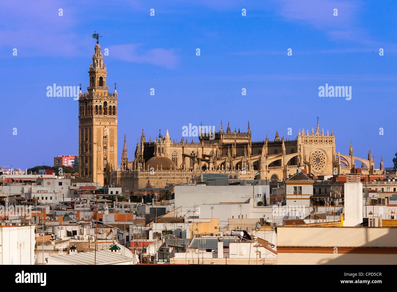 L'Europe, Espagne, Andalousie, Séville, La Giralda, La Cathédrale de Séville Banque D'Images