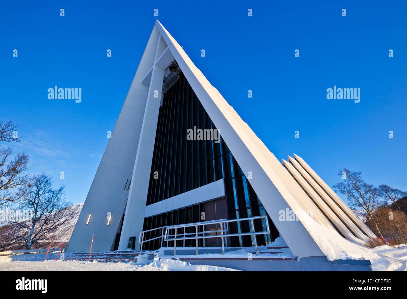 La Cathédrale arctique, l'église, Tromso, Troms, Norvège du Nord, en Scandinavie, en Europe Photo Stock