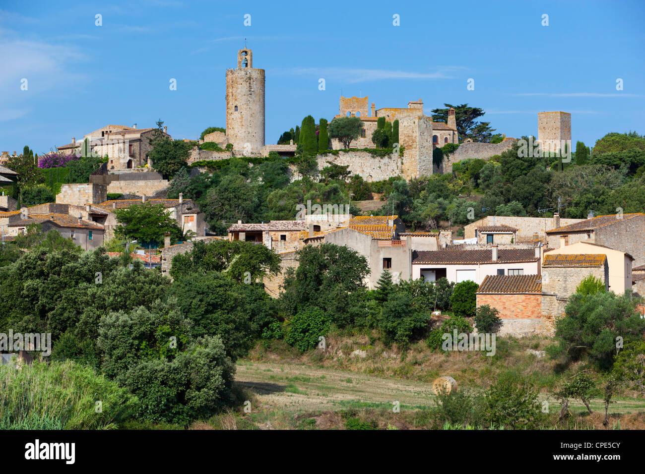 Village perché, Pals, Costa Brava, Catalogne, Espagne, Europe Photo Stock