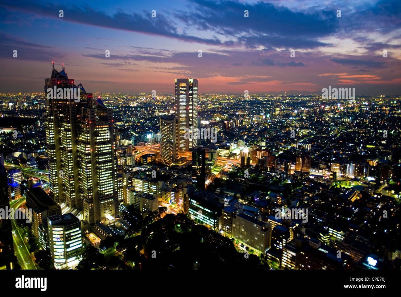 Vue depuis Tokyo Metropolitan Building, Shinjuku, Tokyo, Japon, Asie Photo Stock
