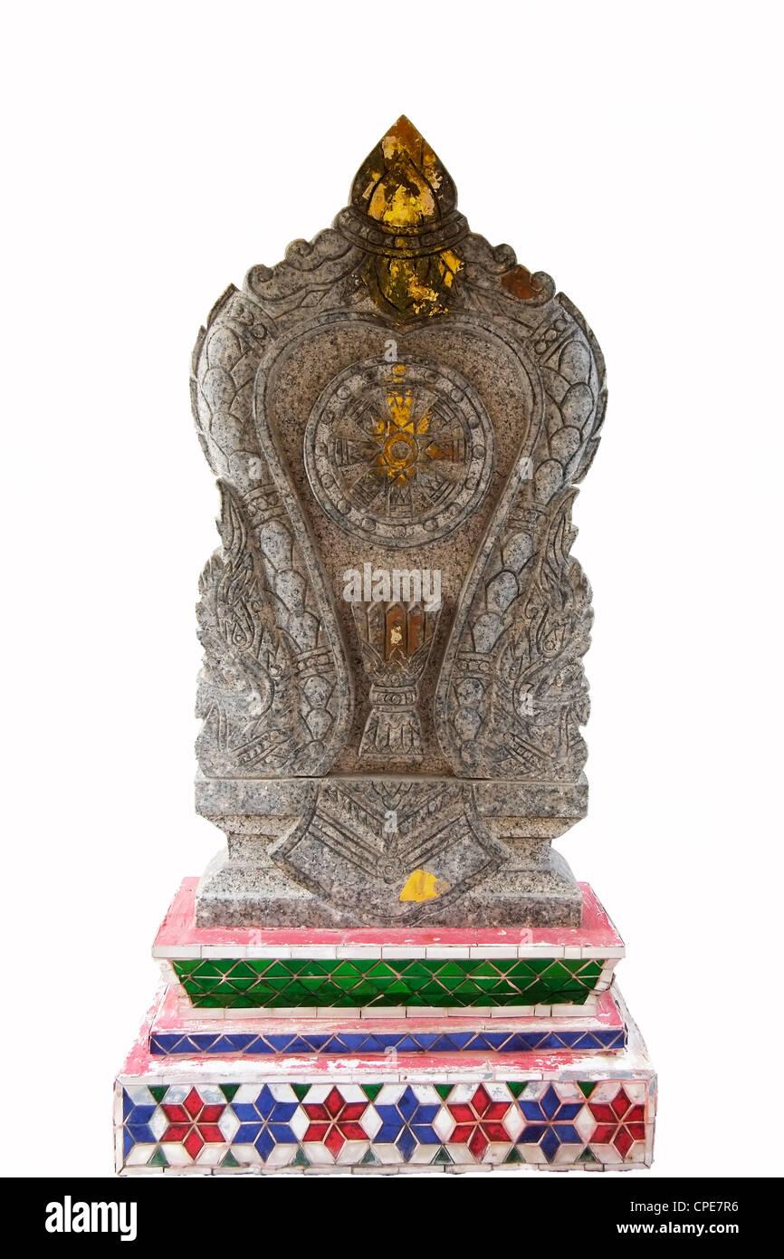 Temple bouddhiste Sema Bai avec fond blanc Banque D'Images