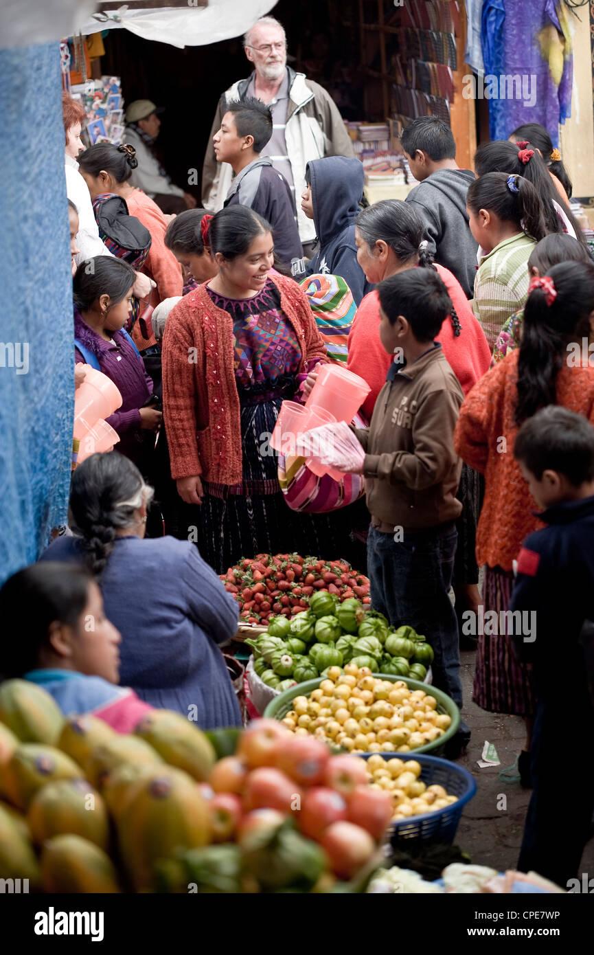 Marché, Chichicastenango, Western Highlands, Guatemala, Amérique Centrale Photo Stock