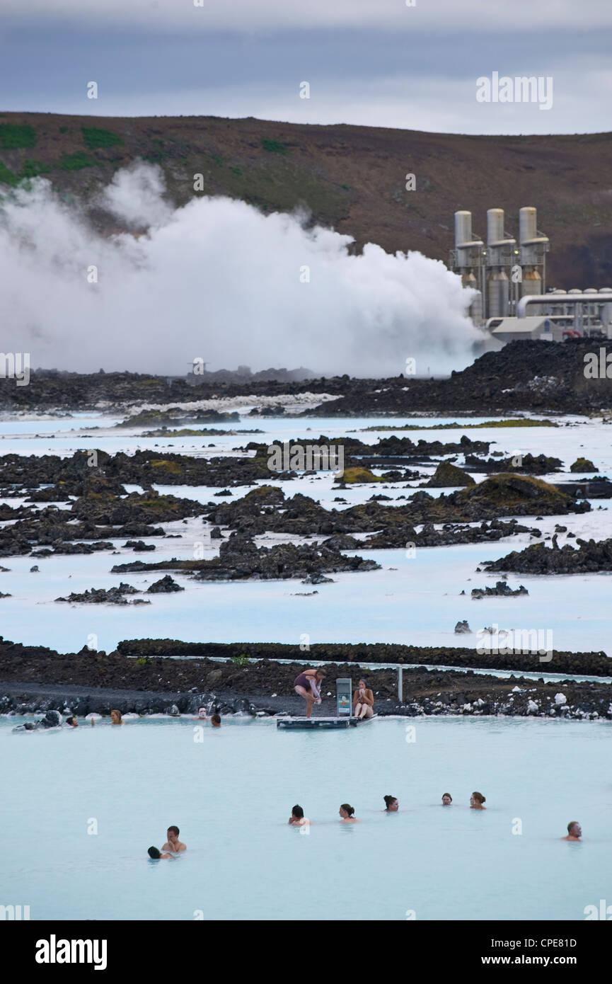 Blue Lagoon Resort, Svartsengi, Islande, régions polaires Banque D'Images