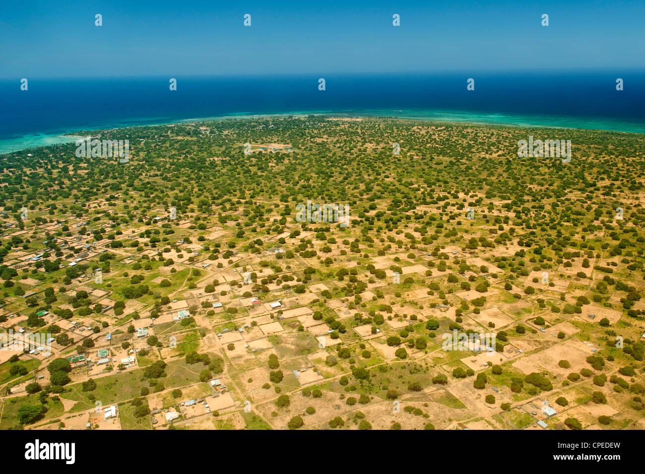 Vue aérienne de Pemba dans le nord du Mozambique. Photo Stock