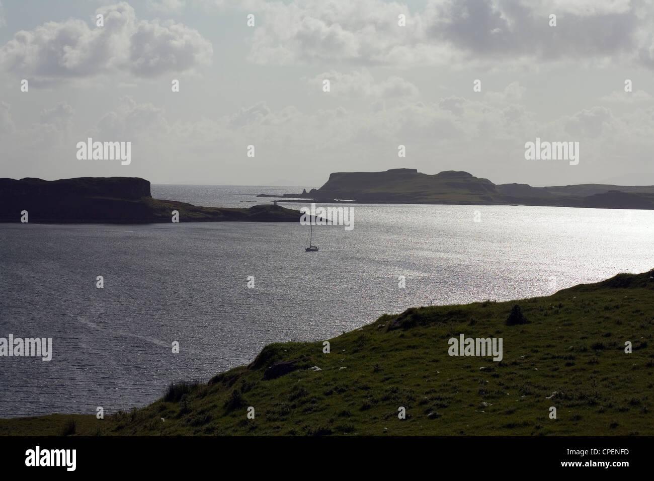 Ardtreck Loch Harport Point à partir de l'île de Skye Ecosse des fouilleurs clandestins, utilisant Banque D'Images