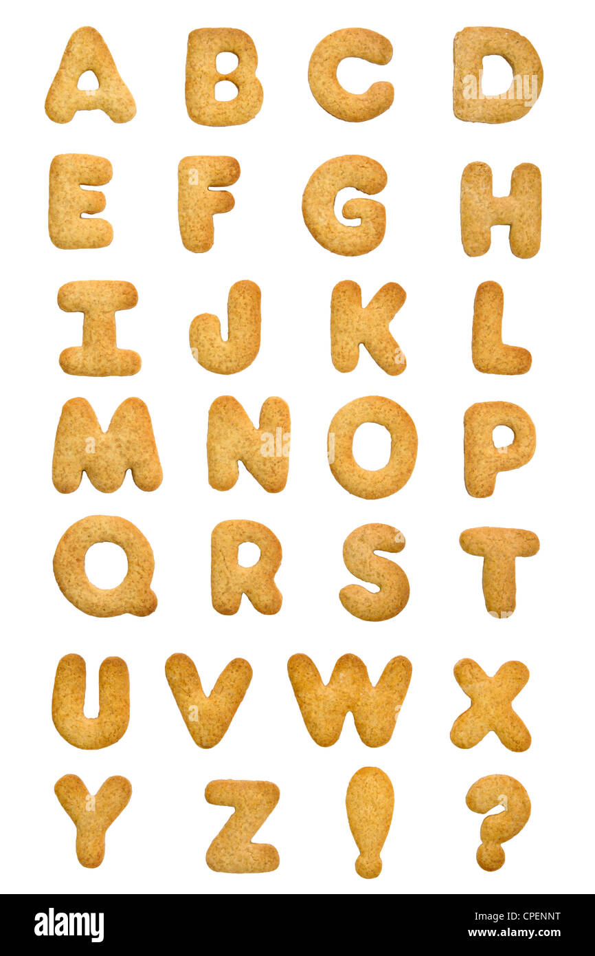 Alphabet de cookie Photo Stock
