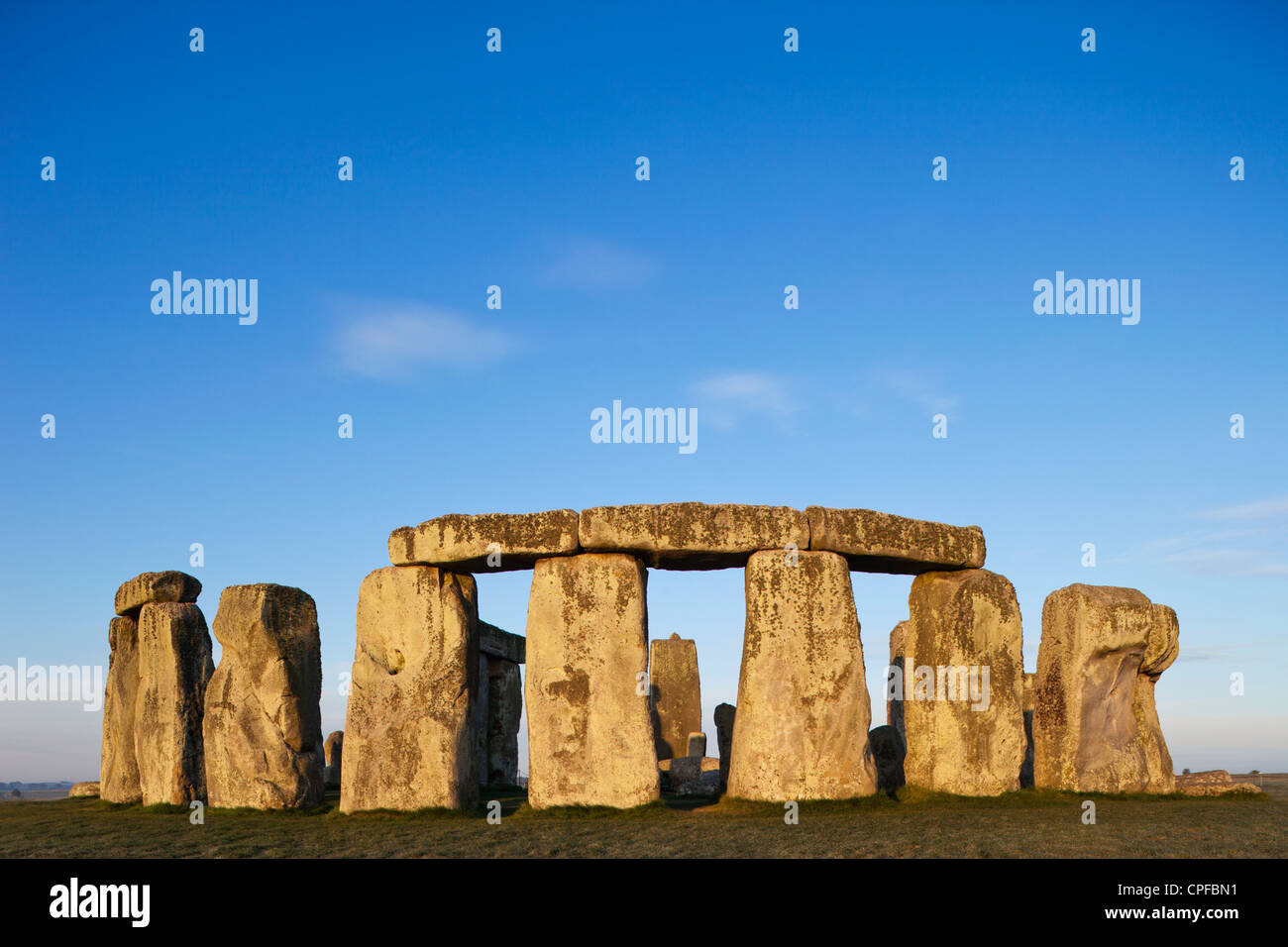 L'Angleterre, dans le Wiltshire, Stonehenge Photo Stock