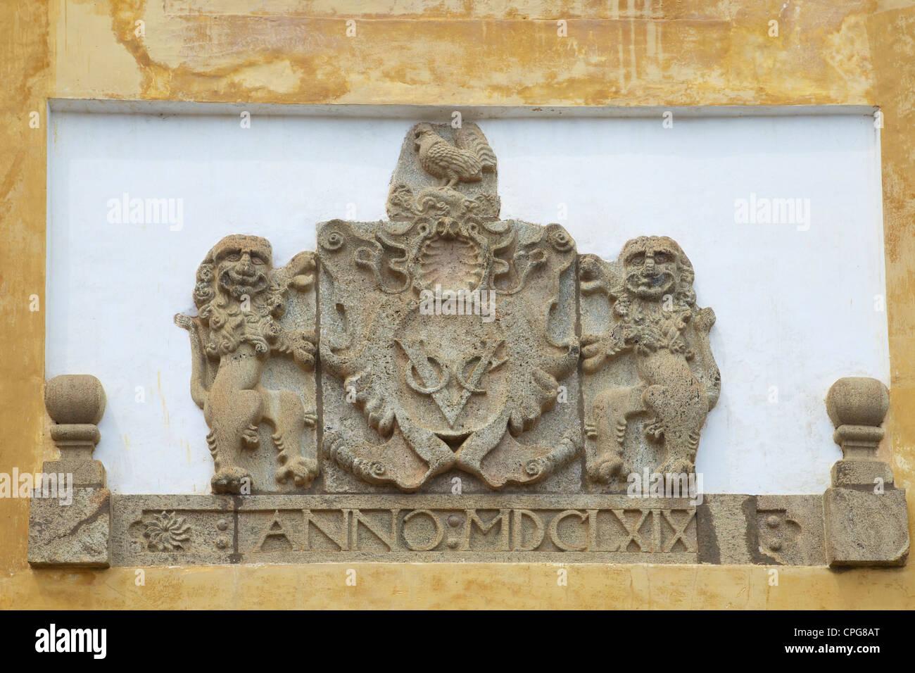 Ancienne architecture coloniale néerlandaise dans le site du patrimoine mondial de l'Unesco de Galle, Sri Photo Stock