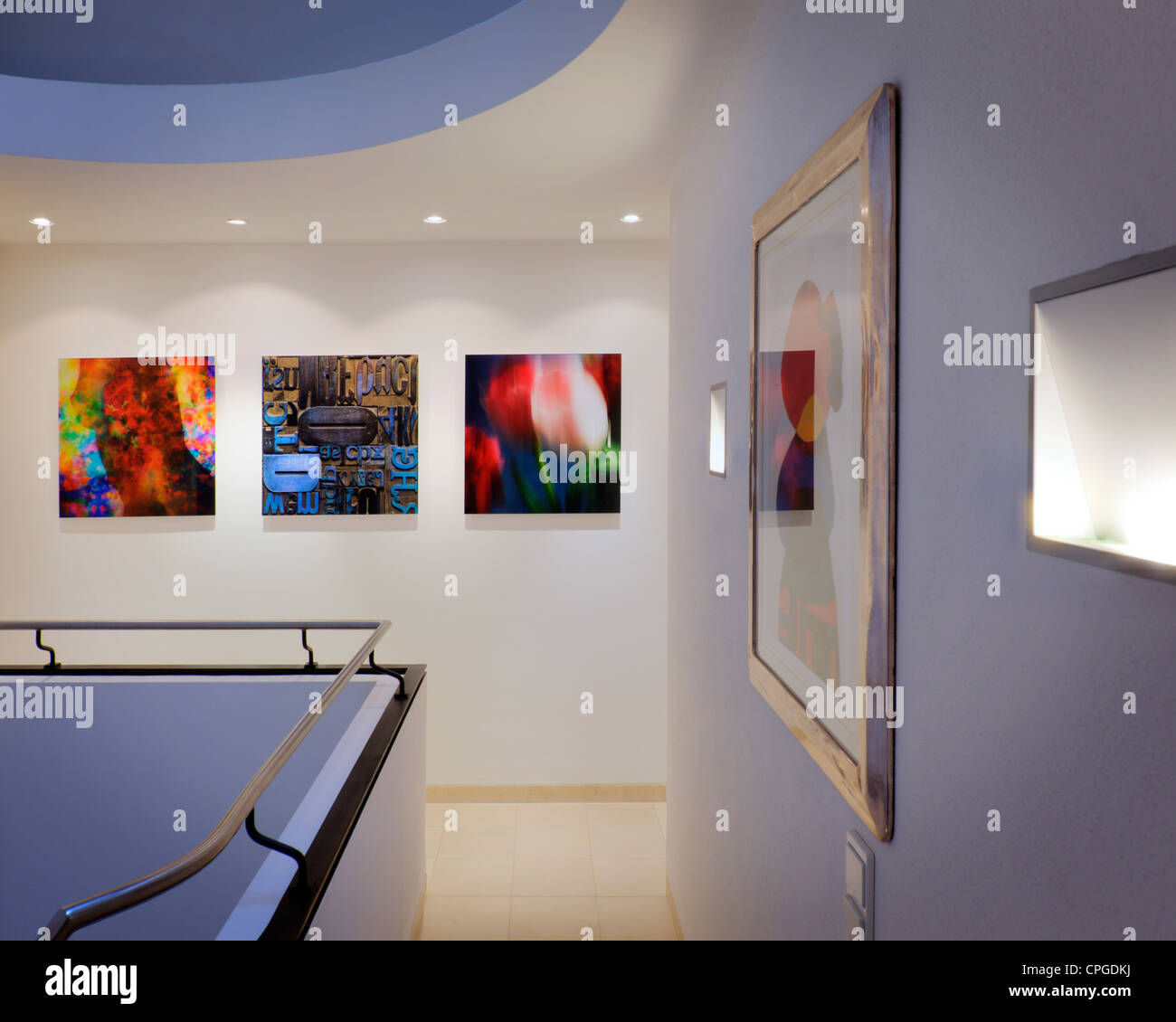 ARCHITECTURE: Contemporary Gallery Afficher (Allemagne/Bad Toelz) Photo Stock