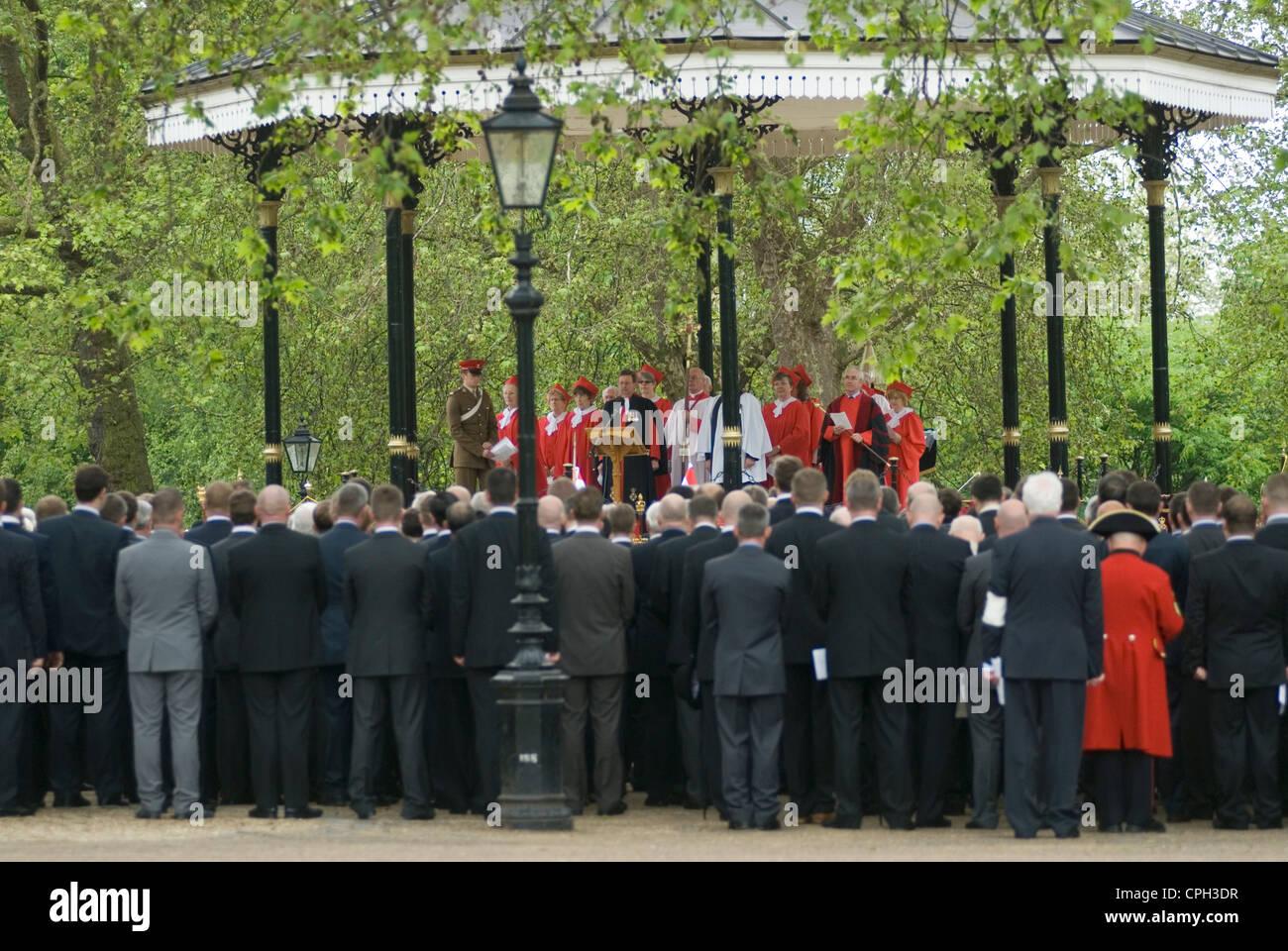 Cavalerie combiné vieux camarades Association et parade Hyde Park Londres Royaume-Uni. Le service de l'Hyde Photo Stock