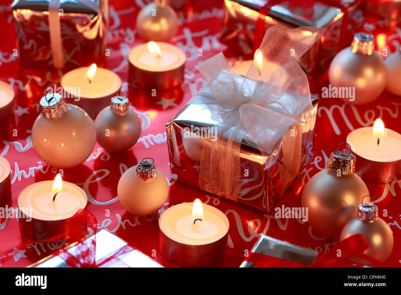 Decoration De Paquets Cadeaux décoration, présents, cadeaux, deco, bougies, lumière