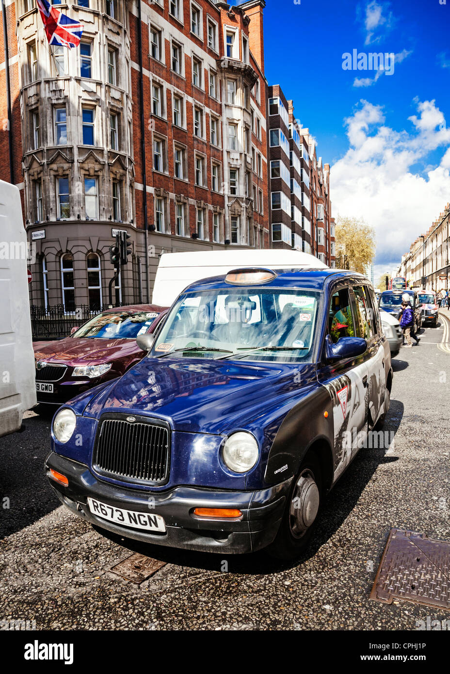 Taxi de Londres, Londres, Angleterre. Photo Stock