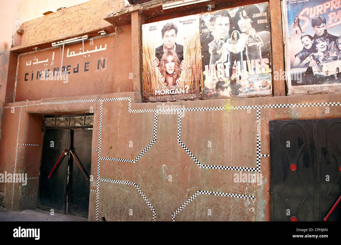 Cinéma La plus ancienne au Maroc Marrakech Maroc Banque D'Images