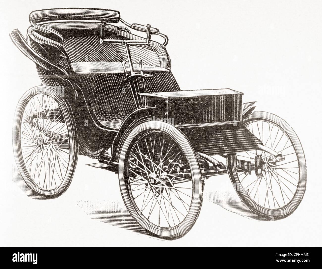 Un moteur à essence Clément voiture. Banque D'Images